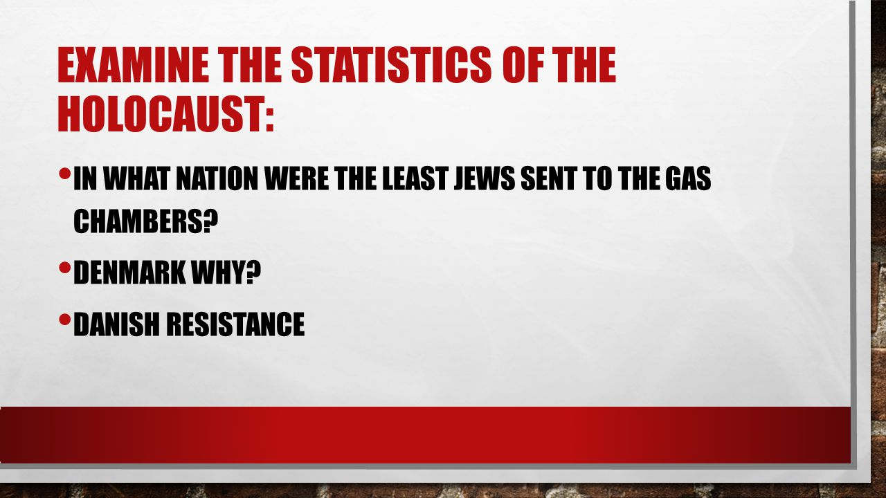 IN WHAT NATION WERE THE LEAST JEWS SENT TO THE GAS CHAMBERS.