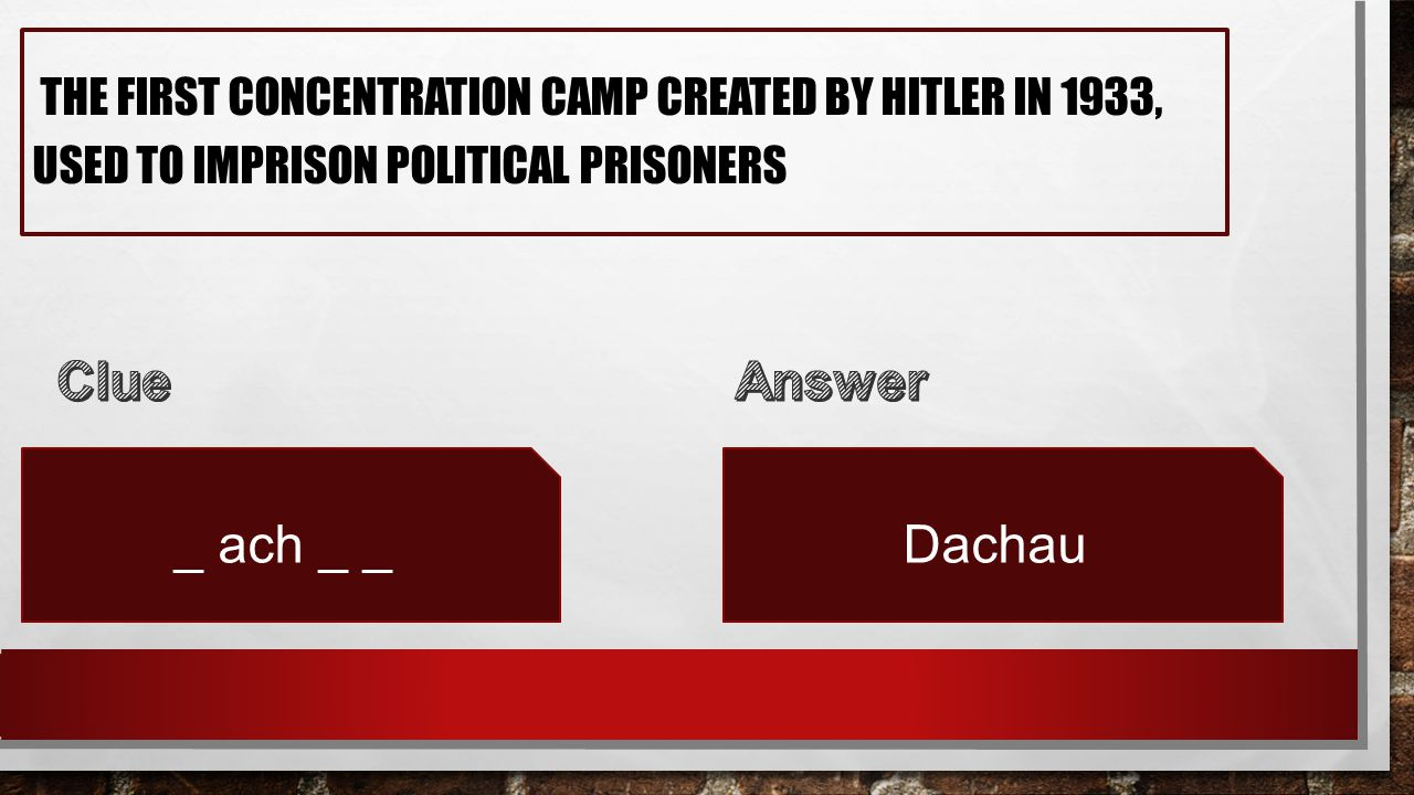 THE FIRST CONCENTRATION CAMP CREATED BY HITLER IN 1933, USED TO IMPRISON POLITICAL PRISONERS _ ach _ _Dachau