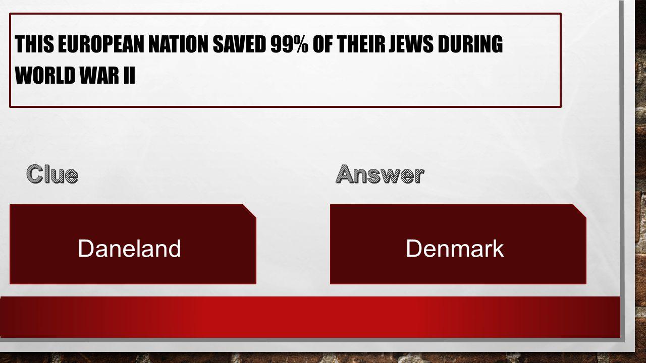 THIS EUROPEAN NATION SAVED 99% OF THEIR JEWS DURING WORLD WAR II DanelandDenmark