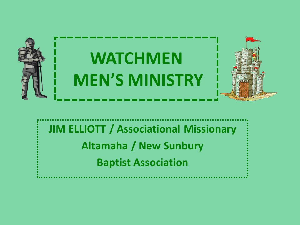 WATCHMEN'S MEN'S MINISTRY CHAPTER ONE PROBLEMS AccountsDebt is the new slavery.