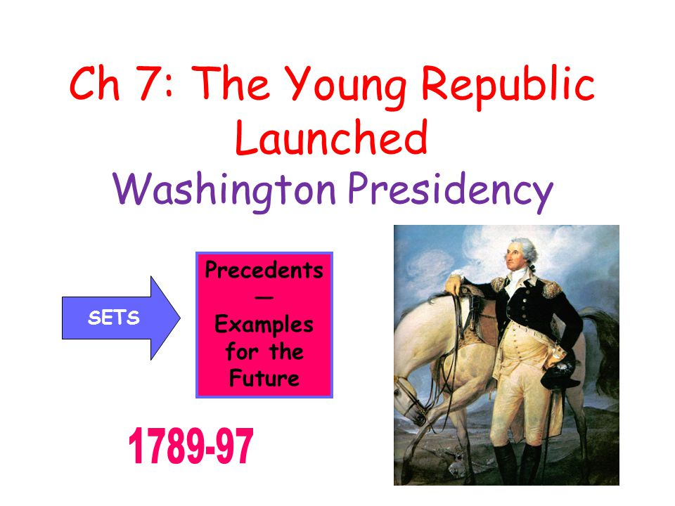 Ch 7: The Young Republic Launched Washington Presidency Precedents — Examples for the Future SETS