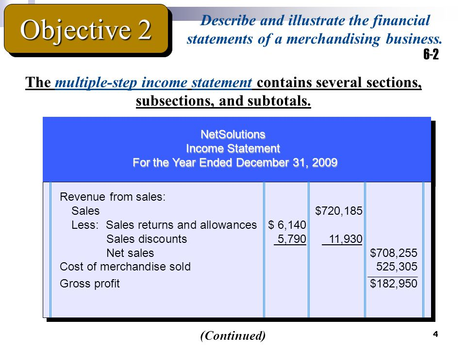 5 Operating expenses: Selling expenses: Sales salaries expense$53,430 Advertising expense10,860 Depr.