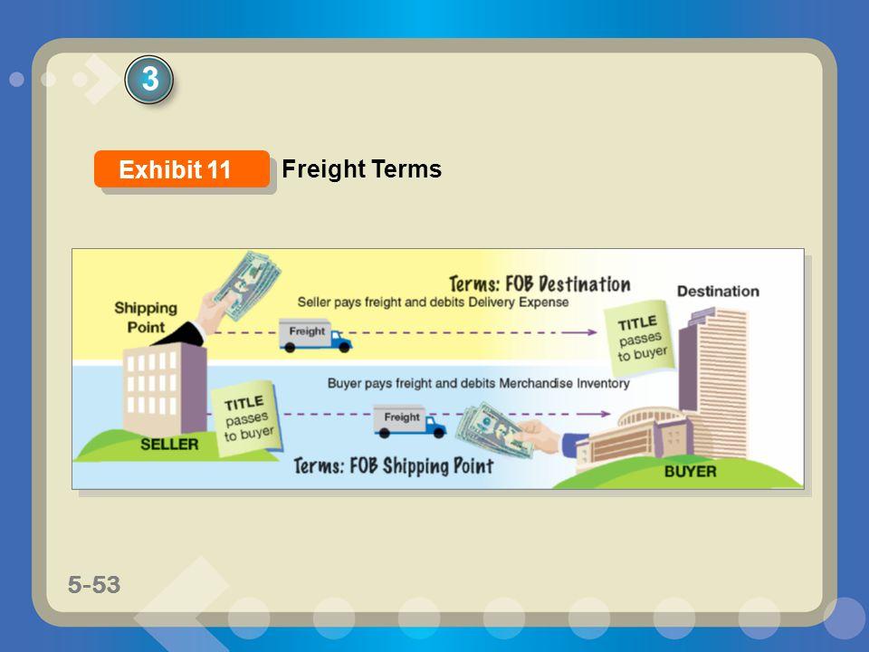 5-53 3 Freight Terms Exhibit 11