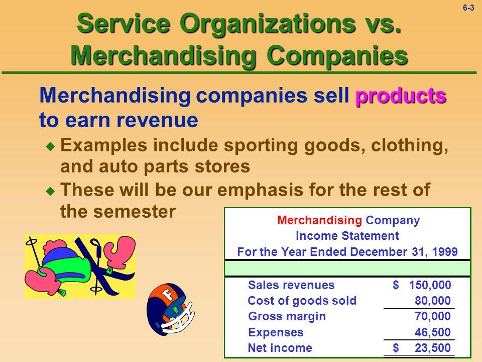 6-2 Service Organizations vs.