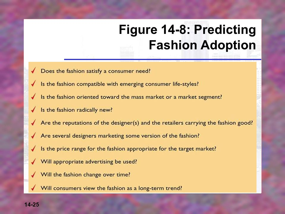 14-25 Figure 14-8: Predicting Fashion Adoption