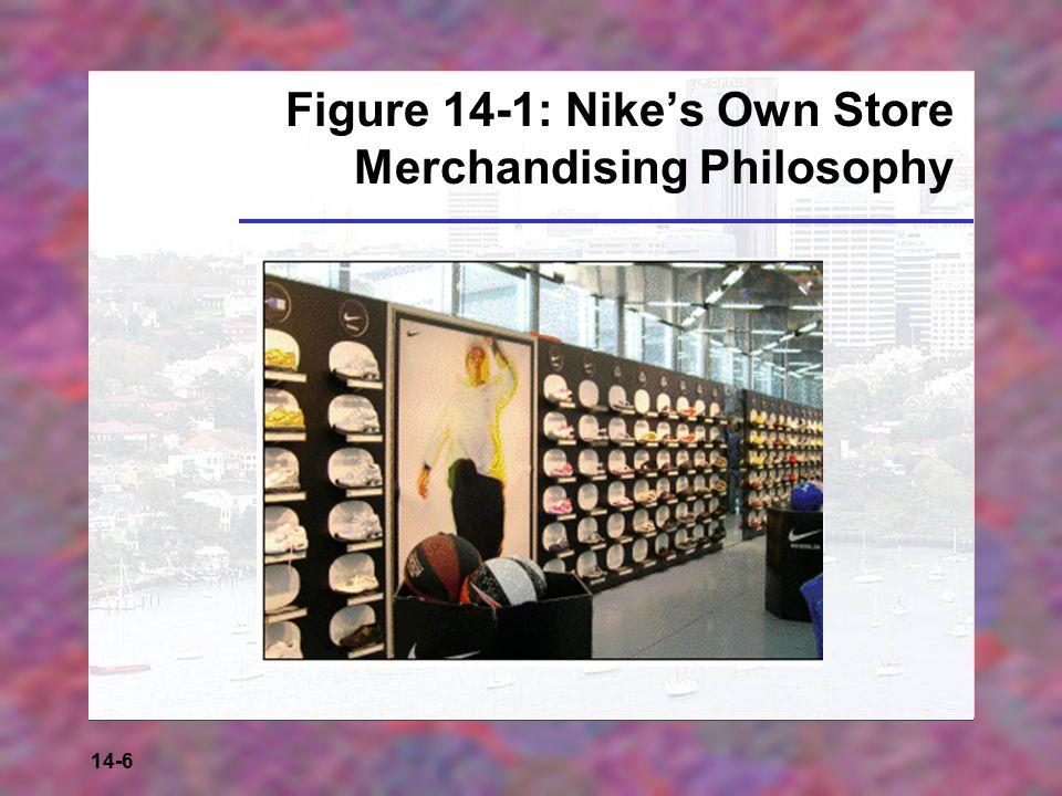 14-6 Figure 14-1: Nike's Own Store Merchandising Philosophy