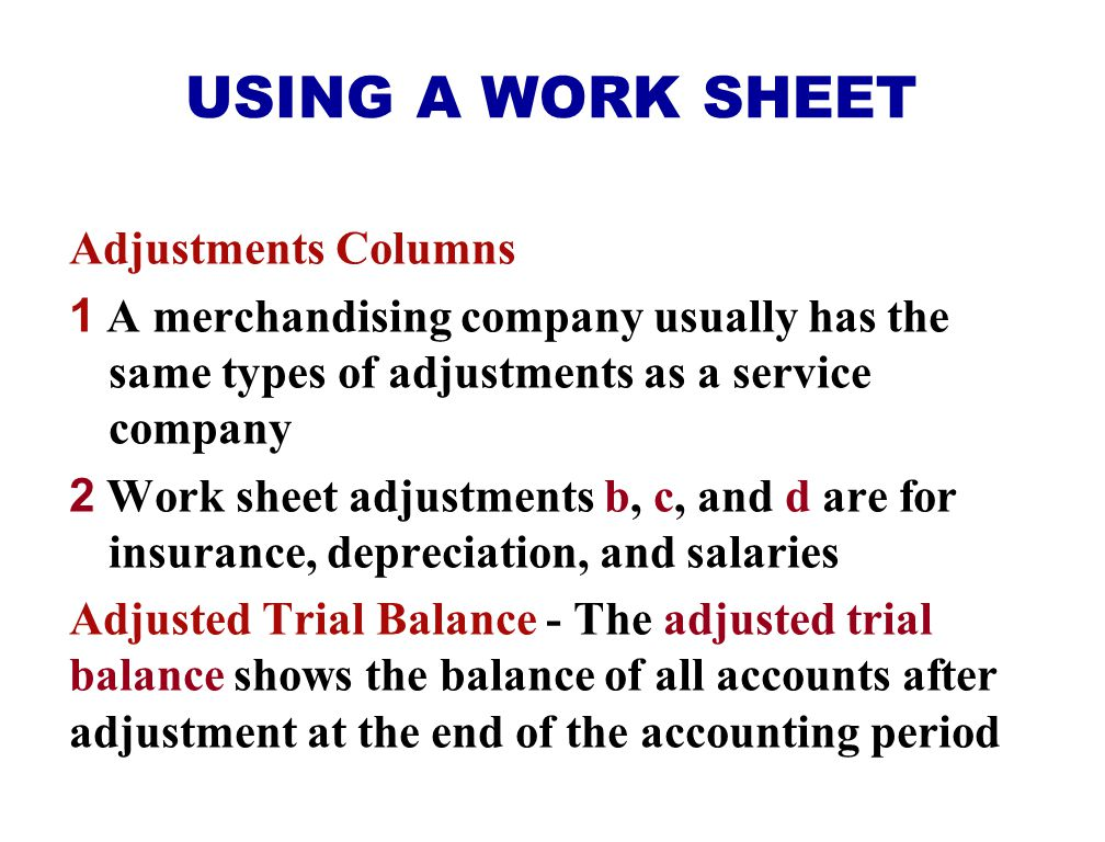 USING A WORK SHEET Appendix 5B Trial Balance Columns 1 Data from the trial balance are obtained from the ledger balances of Sellers Electronix at Dece