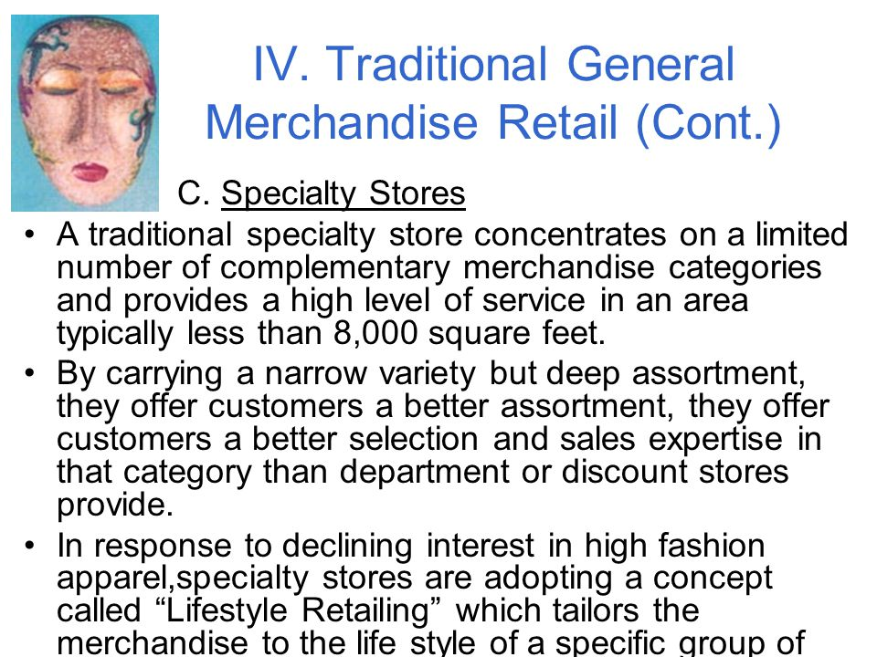 IV.Traditional General Merchandise Retail (Cont.) C.