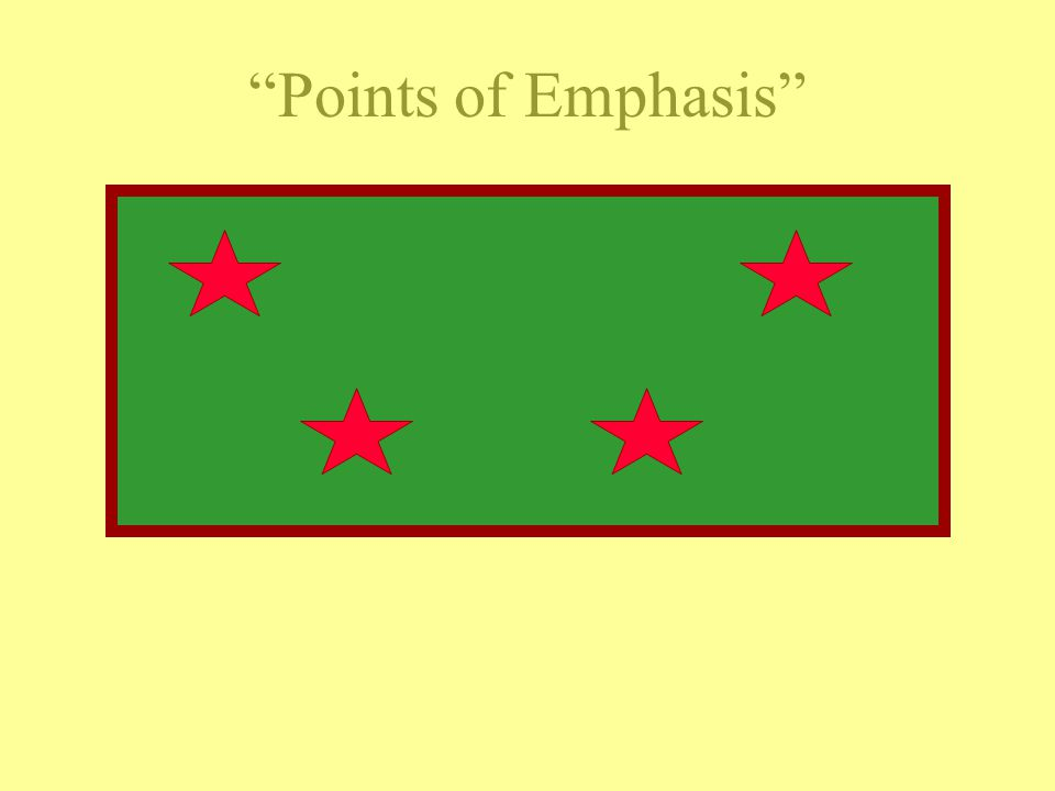 Points of Emphasis