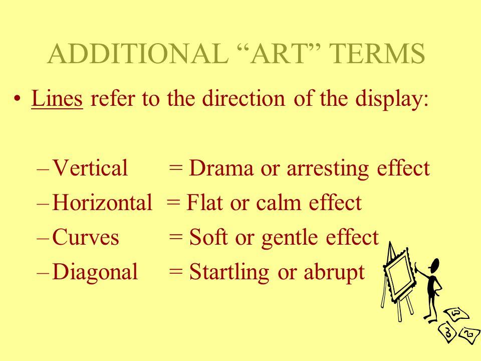ADDITIONAL ART TERMS vs. TEXTUREPROPORTIONRHYTHM vs.