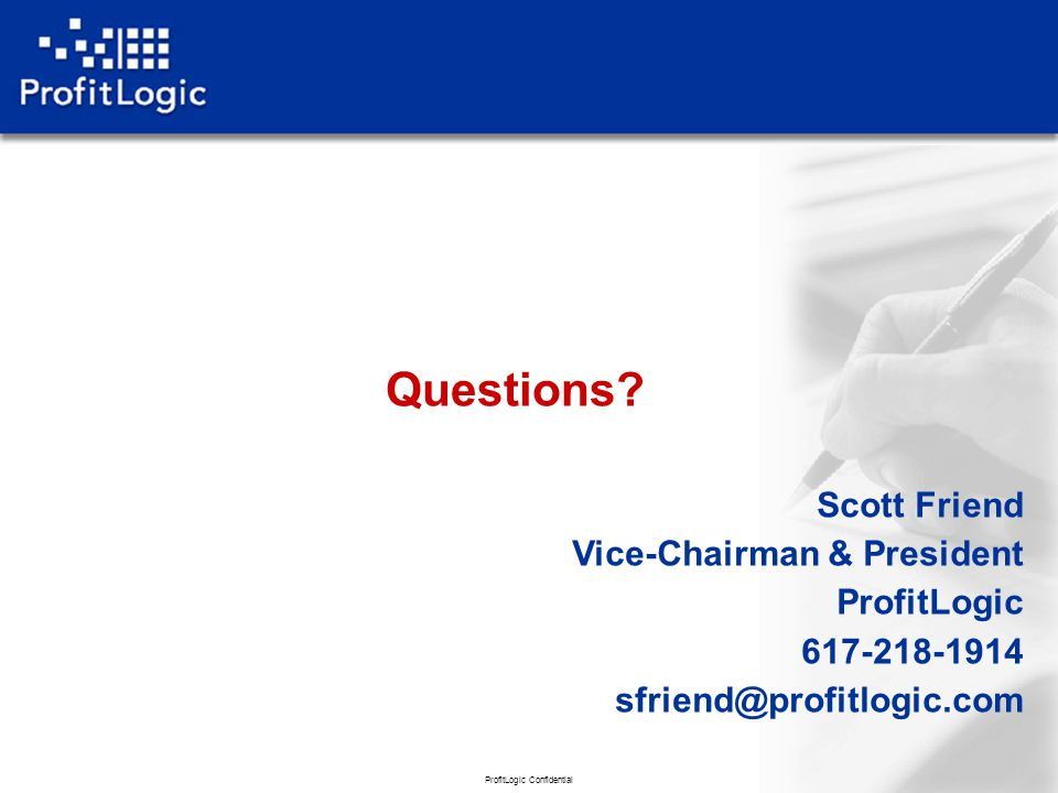 ProfitLogic Confidential 44 Questions.