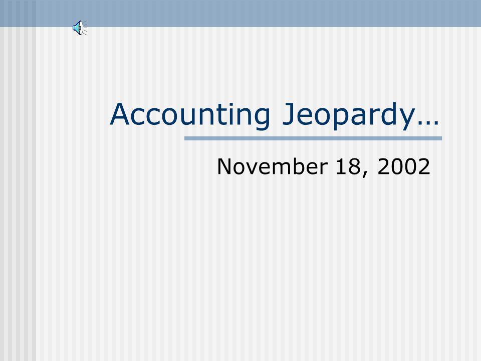 COB 241 November 18, 2002