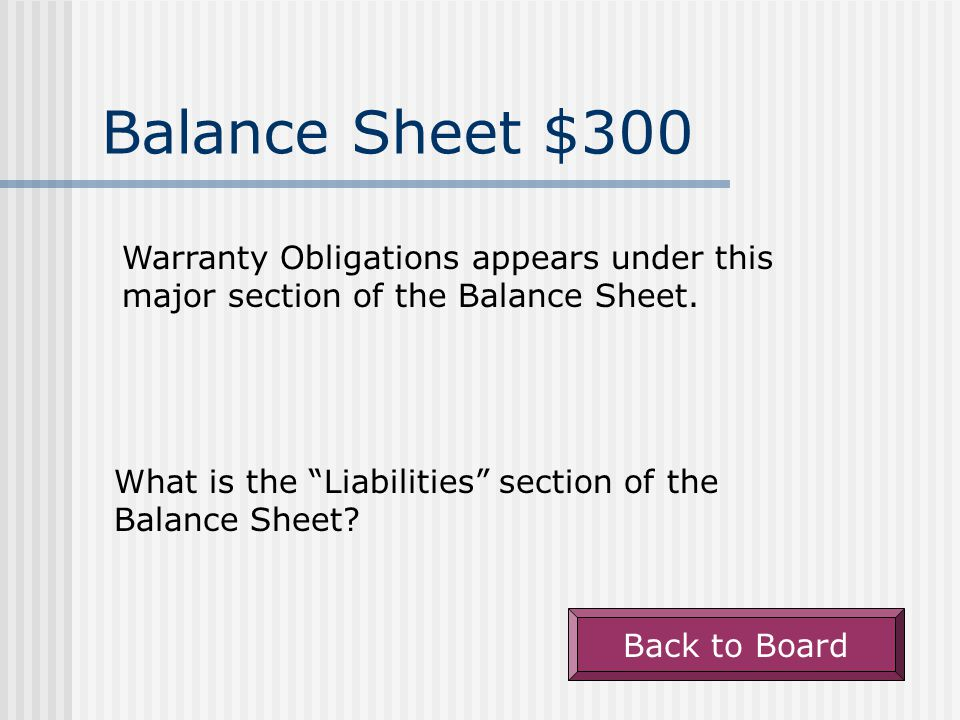 Balance Sheet - $200 Allowance for Bad Debt appears under this major section of the Balance Sheet.