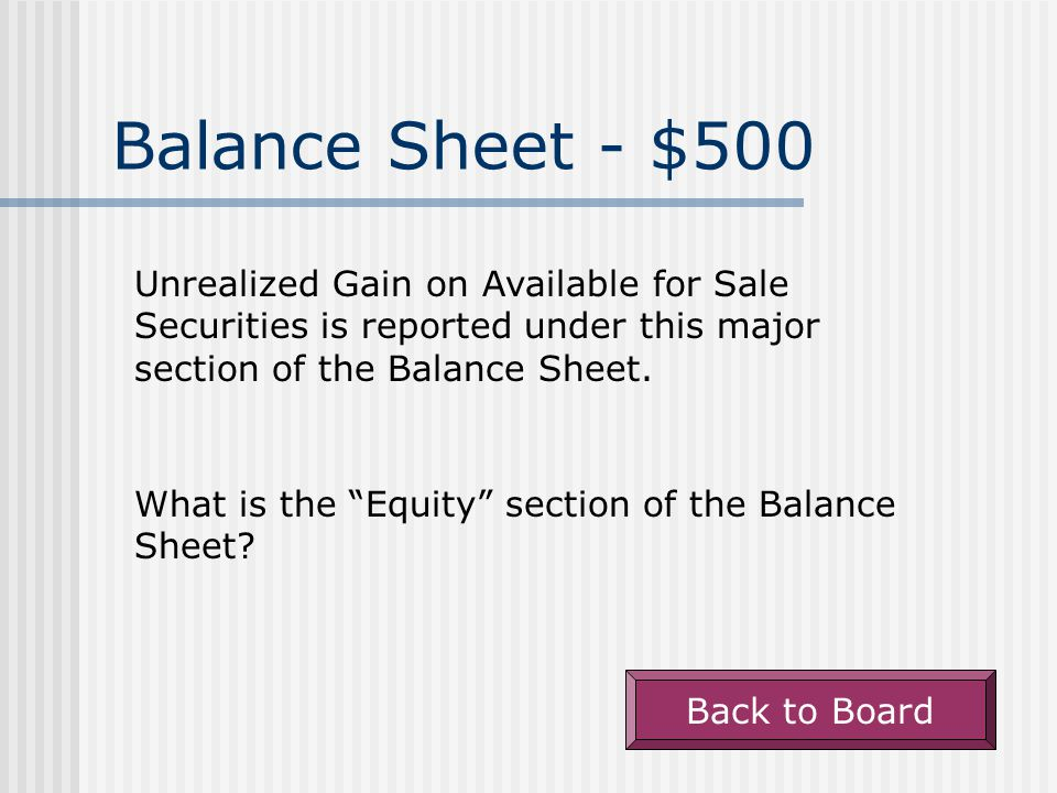 Balance Sheet - $400 Unearned Revenue appears under this major section of the Balance Sheet.