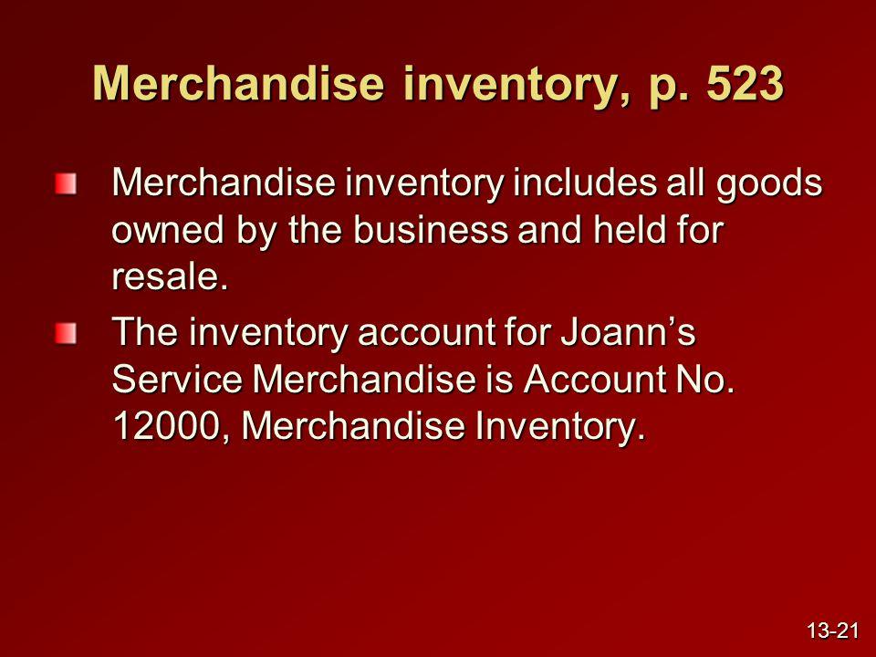Merchandise inventory, p.