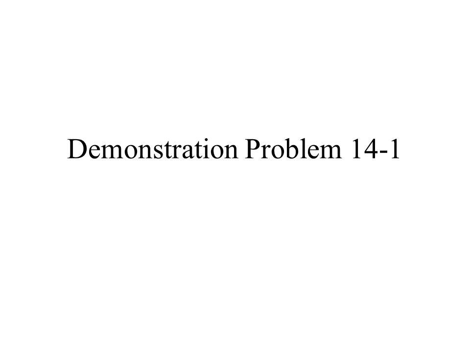 Demonstration Problem 14-1