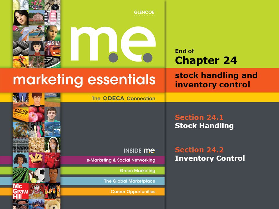 End of Section 24.1 Stock Handling Chapter 24 stock handling and inventory control Section 24.2 Inventory Control
