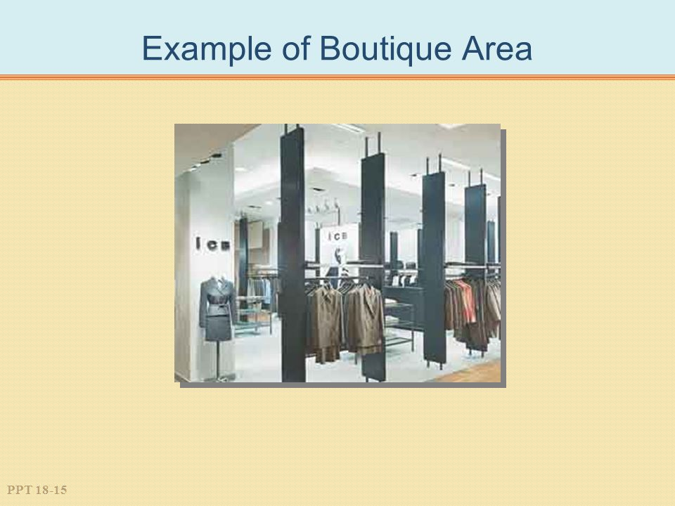 PPT 18-15 Example of Boutique Area
