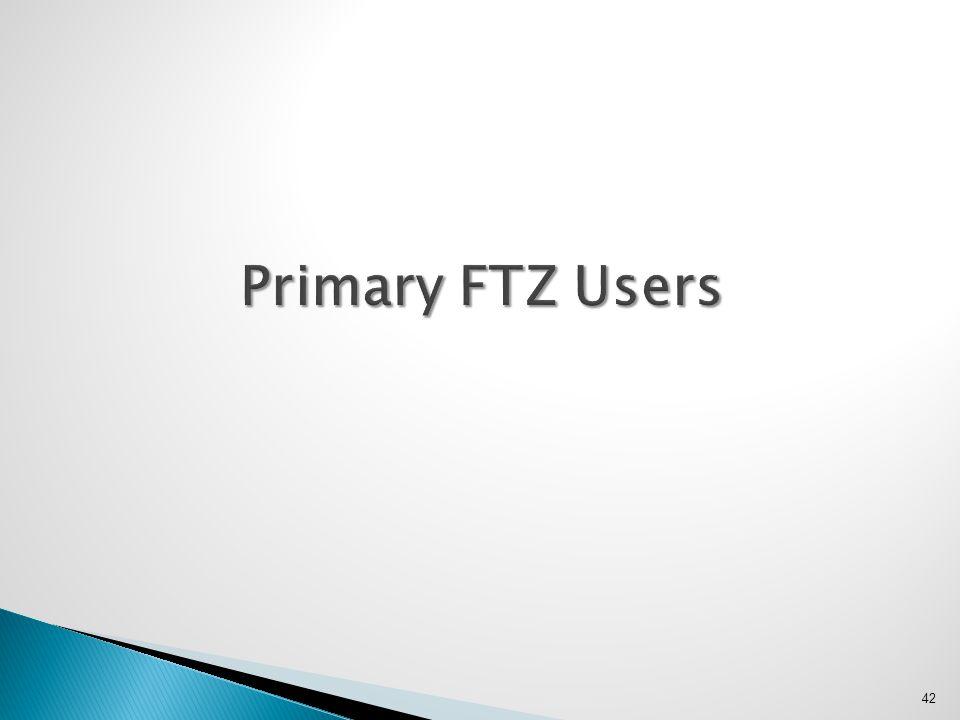 42 Primary FTZ Users