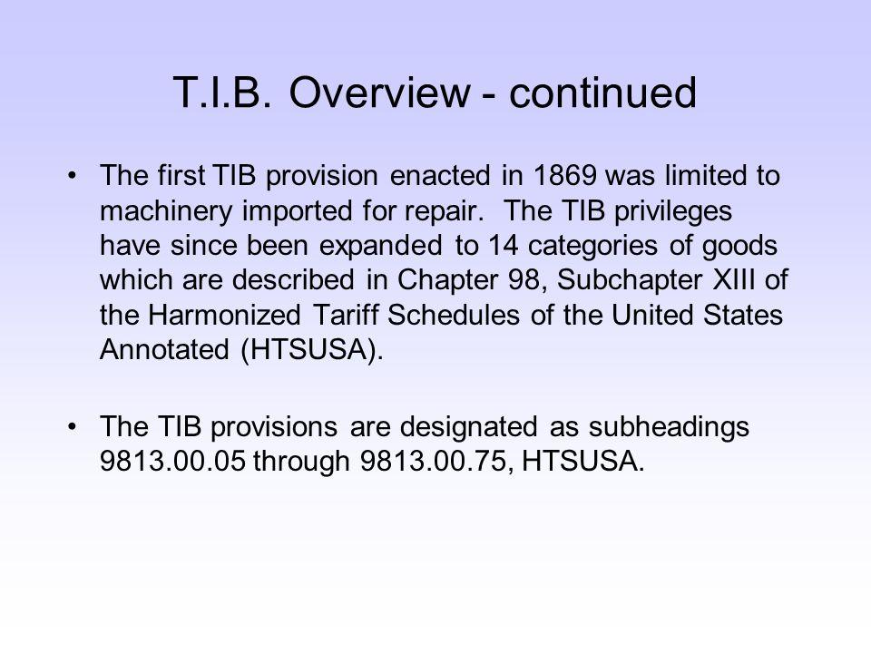 T.I.B.