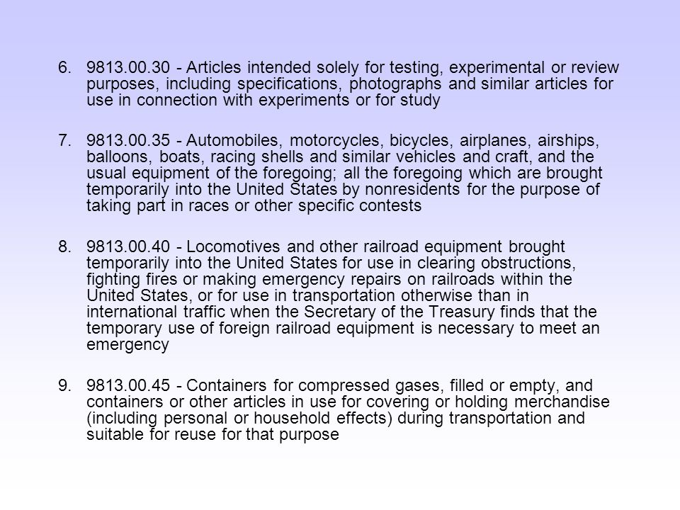 Liquidated Damages If an article imported under the T.I.B.