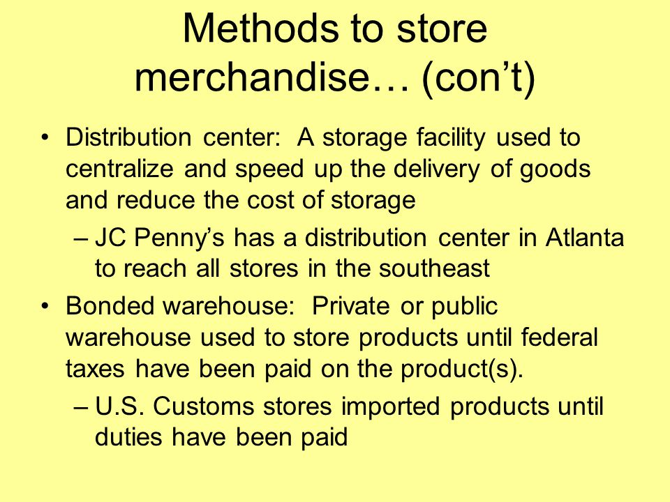 Methods of handling inventory include… Products ordered are received, checked, marked (priced), and transferred Receiving record: a document used by a business to keep track of its incoming inventory.