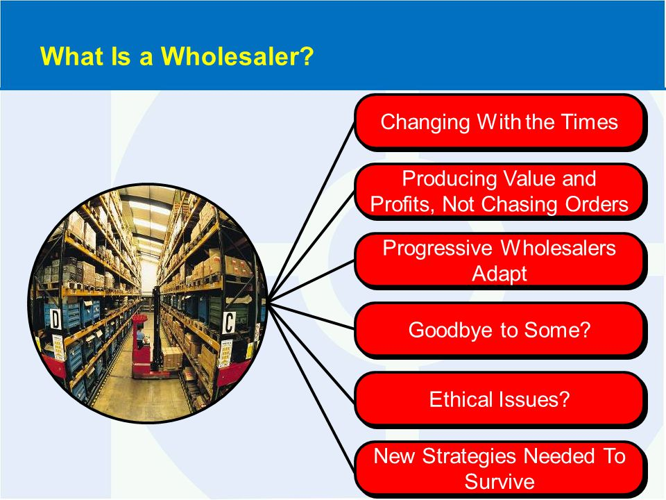 Progressive Wholesalers Adapt Changing With the Times Producing Value and Profits, Not Chasing Orders Goodbye to Some.