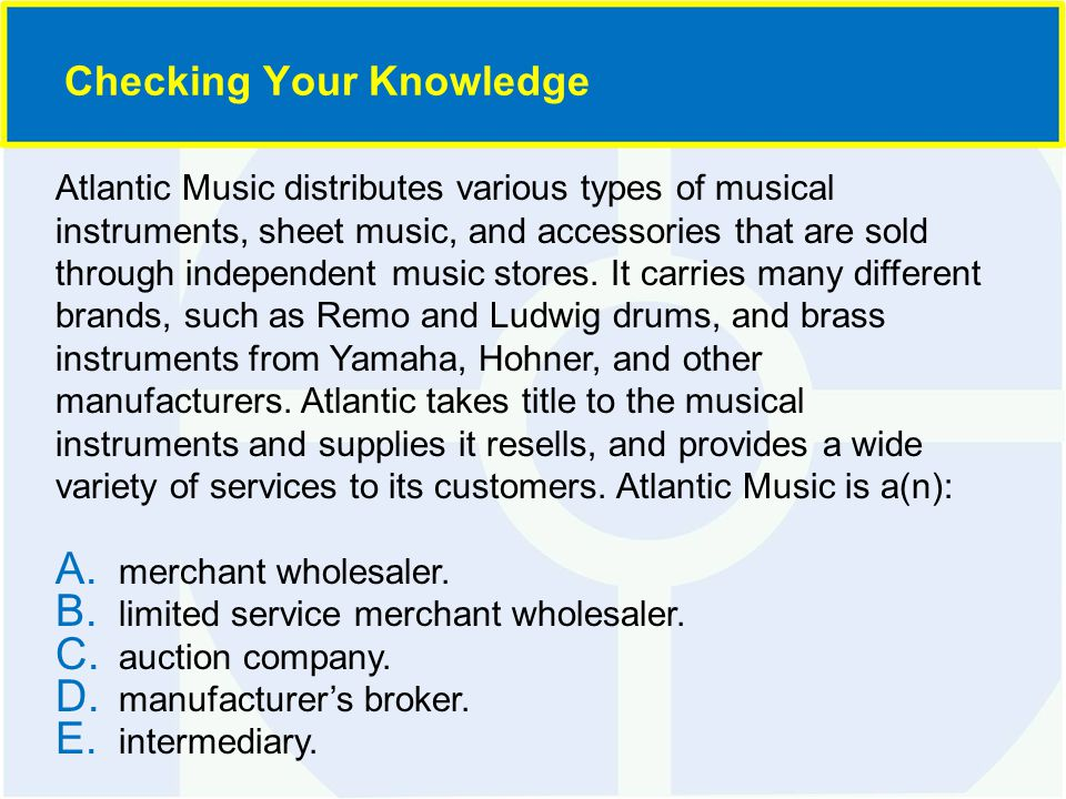 Atlantic Music distributes various types of musical instruments, sheet music, and accessories that are sold through independent music stores.