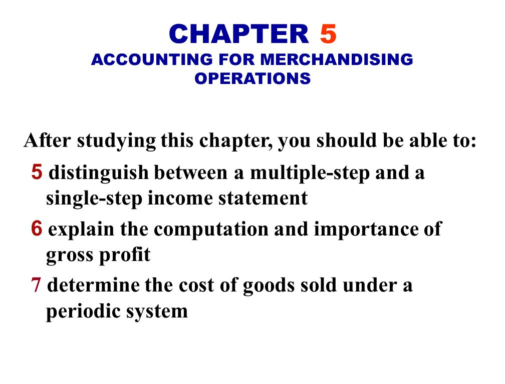 After studying this chapter, you should be able to: 1 identify the differences between a service enterprise and a merchandising company 2 explain the