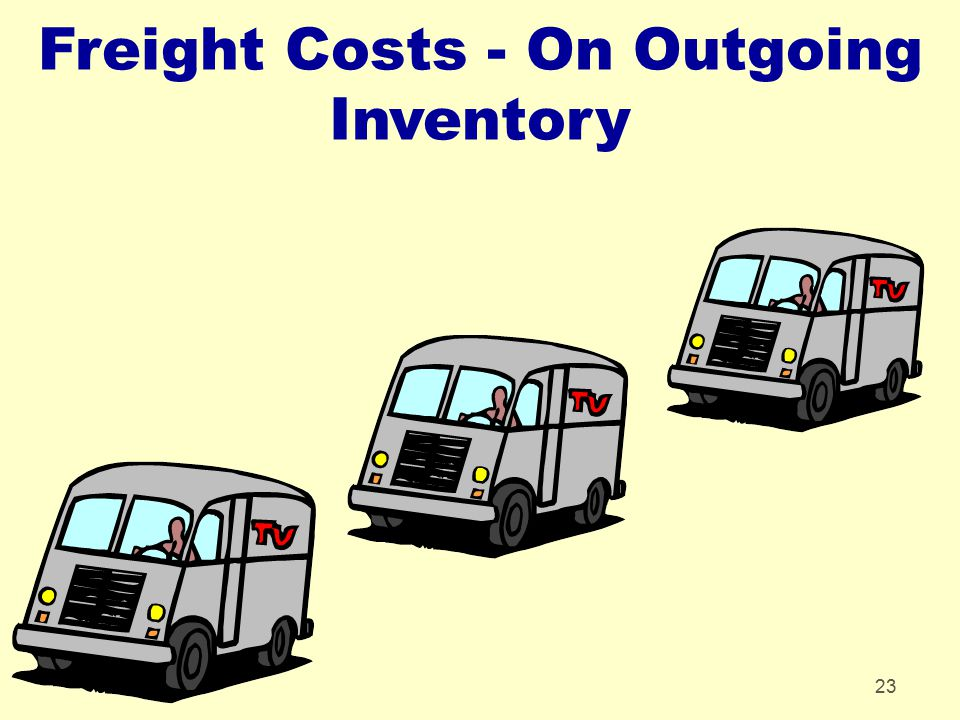 23 Freight Costs - On Outgoing Inventory