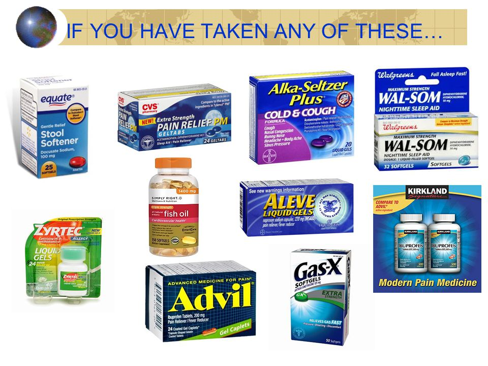 IF YOU HAVE TAKEN ANY OF THESE…
