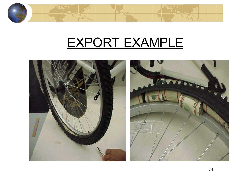 74 EXPORT EXAMPLE
