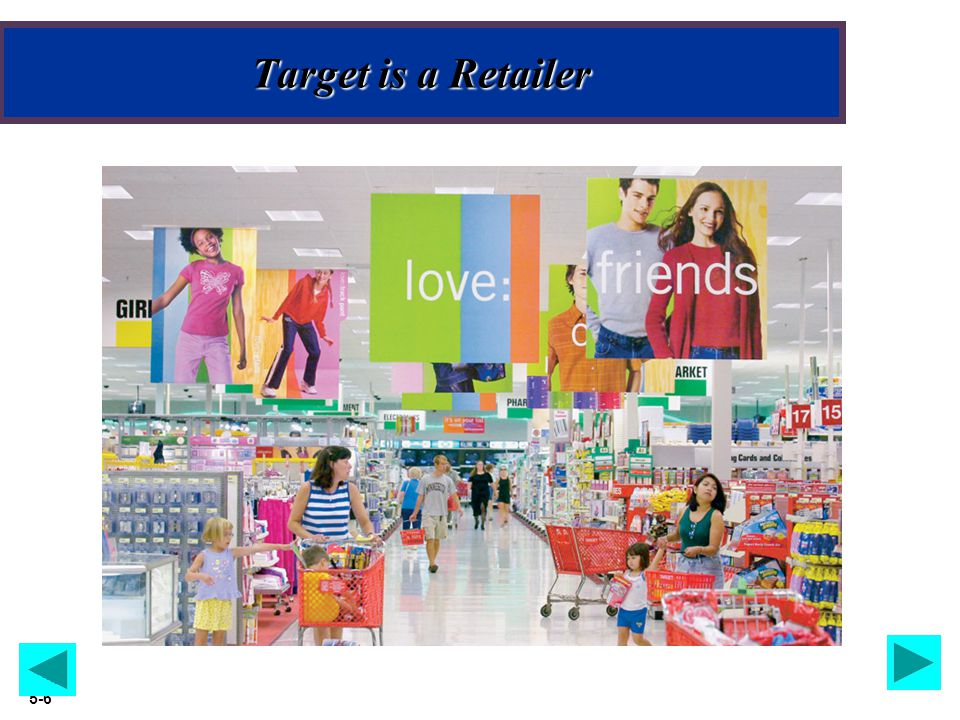 Slide 5-6 Target is a Retailer