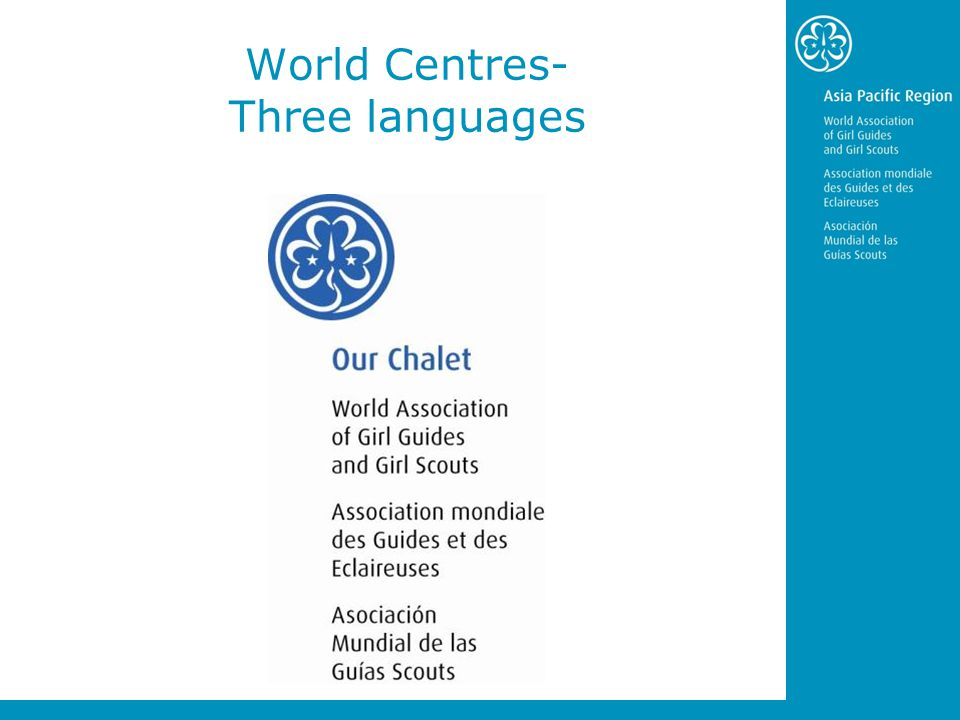 World Centres- Three languages