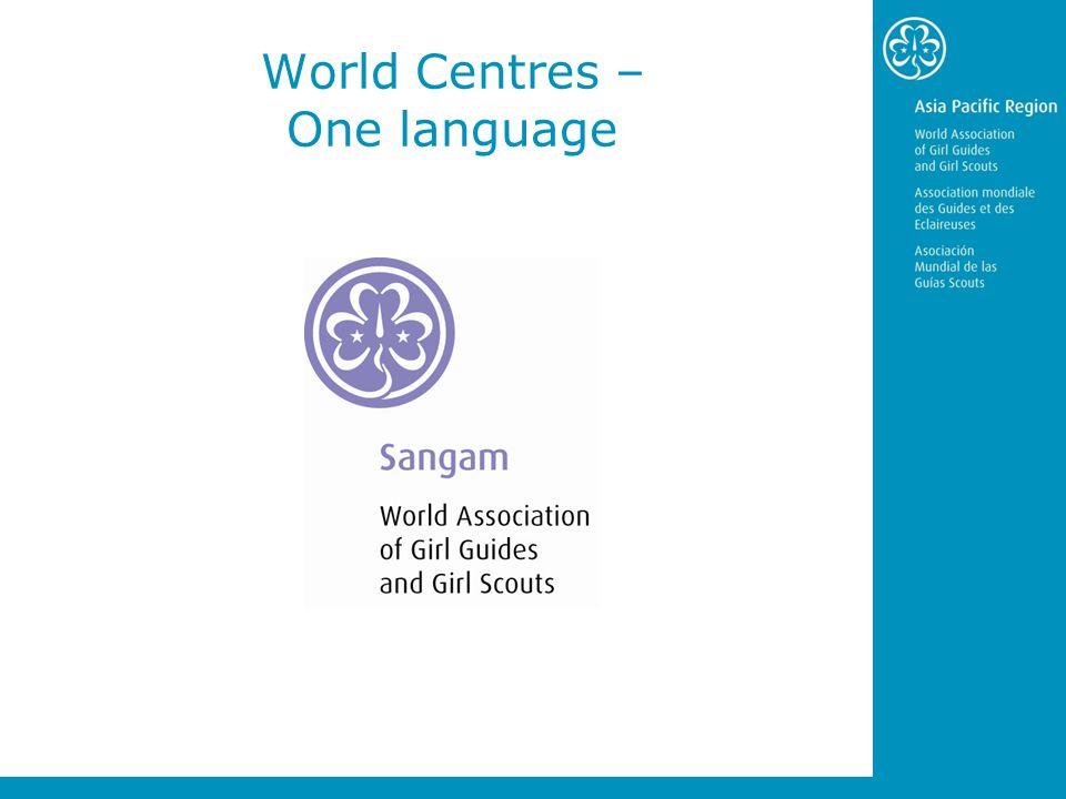 World Centres – One language