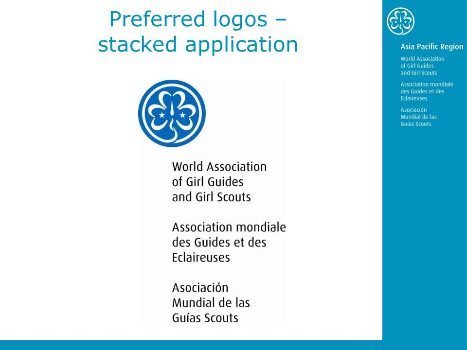 Preferred logos – stacked application