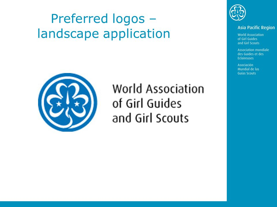 Preferred logos – landscape application
