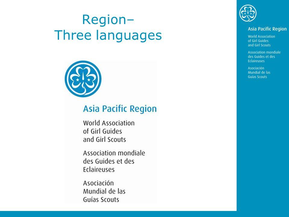 Region– Three languages