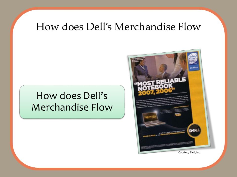 How does Dell's Merchandise Flow Courtesy Dell, Inc.