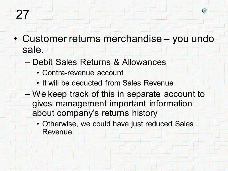 26 D.Accounts Receivable$2,200 Cr.Sales Revenue$2,200 D.Cost of Goods Sold$1,400 Cr.Merchandise Inventory$1,400 Credit sale - revenue side of transaction: Credit sale - cost side of transaction: