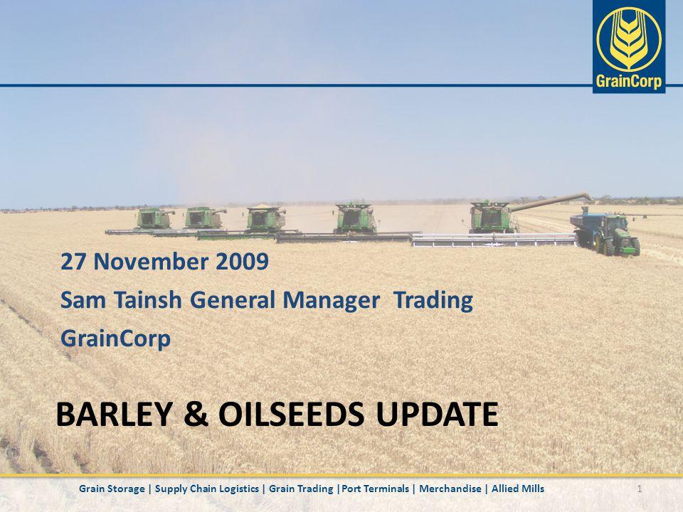 Australian Barley Production 12Grain Storage | Supply Chain Logistics | Grain Trading |Port Terminals | Merchandise | Allied Mills