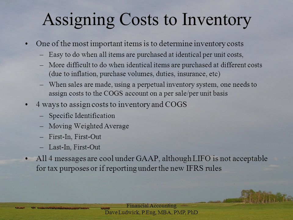 Estimating Inventory Why would we want to estimate inventory.