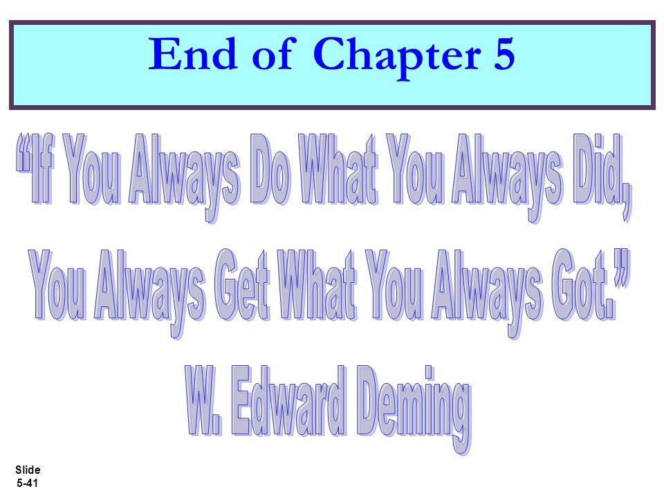 Slide 5-41 End of Chapter 5