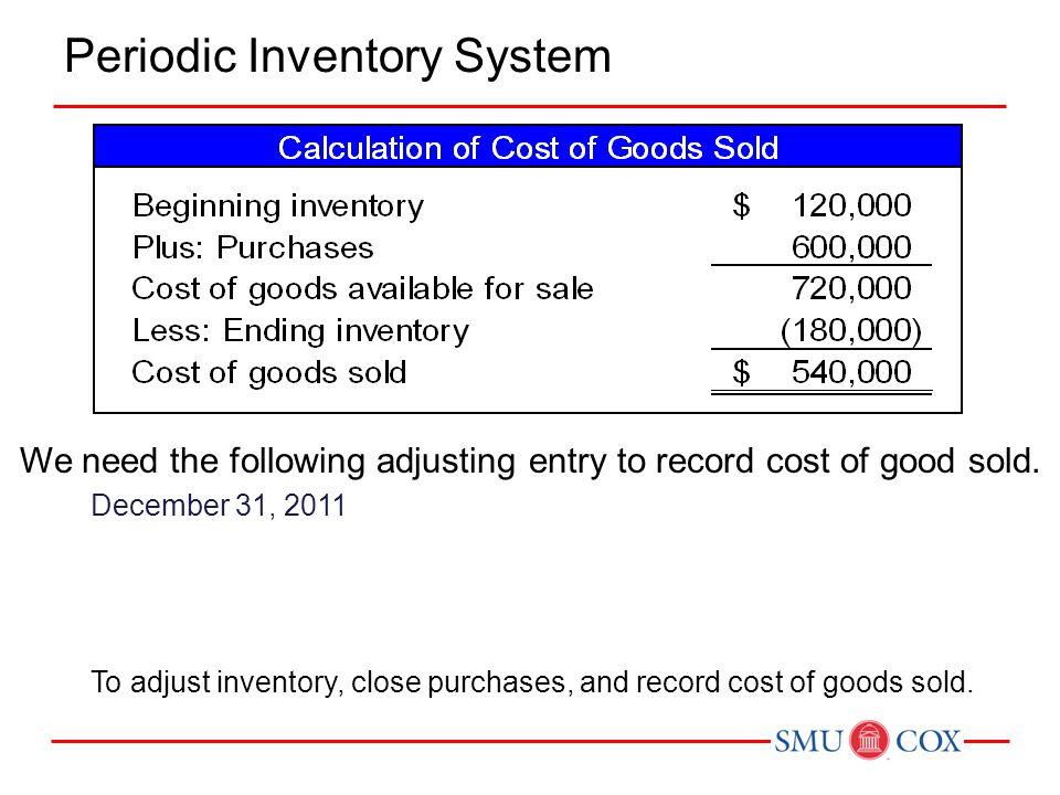 Example 1: LIFO Perpetual (Summary) Ending Inventory: Beg 3,000 units @ $ 8= $24,000 Jan 10 3,000 units @ $ 9= 27,000 Jan 18 2,000 units @ $10= 20,000 8,000 units $71,000 Cost of Goods Sold: Jan 53,000 units= $24,000 Jan 122,000 units= 18,000 Jan 204,000 units= 40,000 Total9,000 units= $82,000