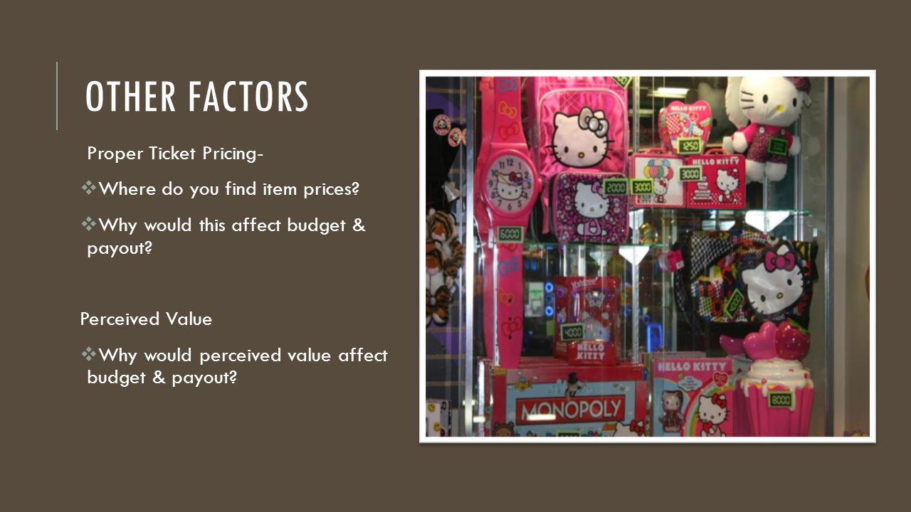 OTHER FACTORS Proper Ticket Pricing-  Where do you find item prices.