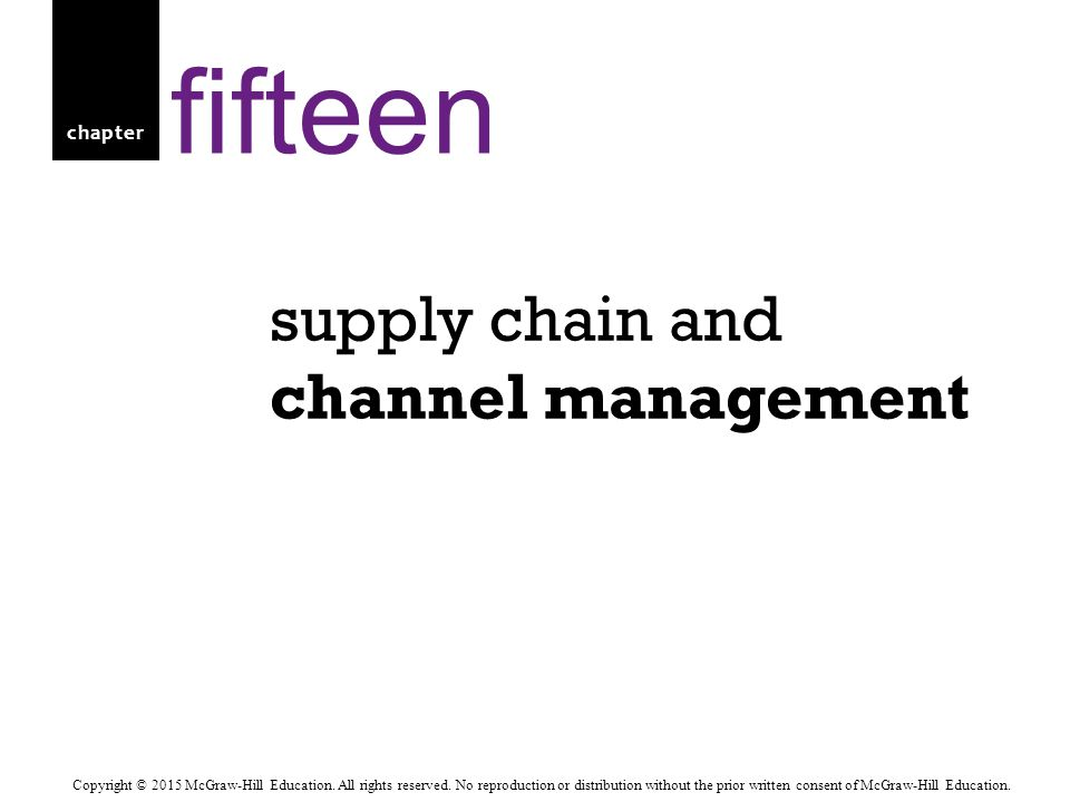 Return to slide 15-32 Supply chain management is a set of approaches and techniques firms employ to integrate their suppliers, manufacturers, warehouses, stores, and transportation intermediaries into a seamless operation in which merchandise is produced and distributed in the right quantities, to the right locations, and at the right time, as well as to minimize system wide costs while satisfying the service levels that their customers require.
