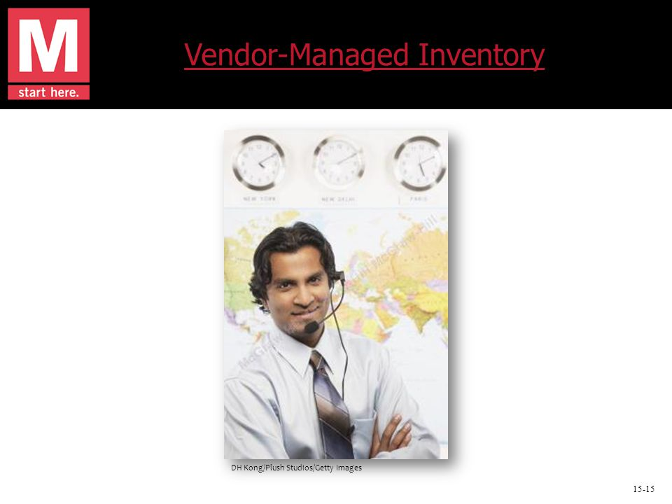 15-15 Vendor-Managed Inventory DH Kong/Plush Studios/Getty Images