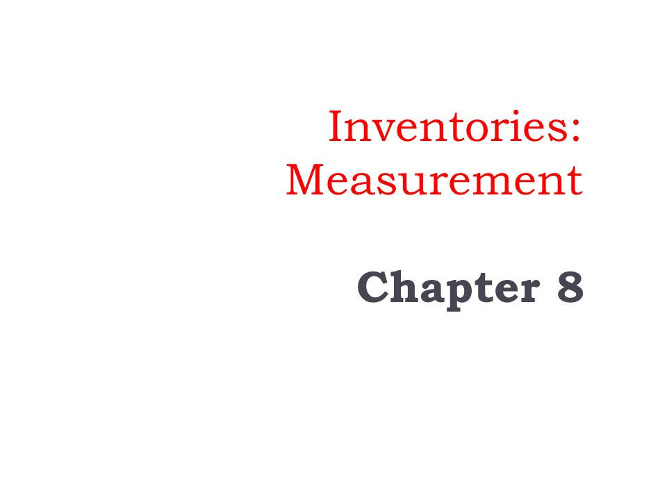 Recording and Measuring Inventory Merchandise Inventory Goods acquired for resale Manufacturing Inventory Raw Materials Work-in-Process Finished Goods Types of Inventory