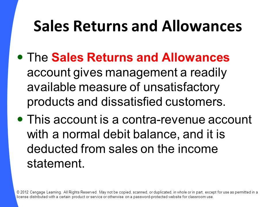 EXAMPLE: Sales Returns and Allowances (slide 1 of 3) Aug.