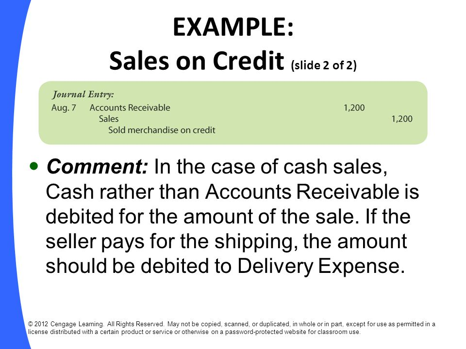 EXAMPLE: Sales Returns and Allowances (slide 1 of 2) Aug.